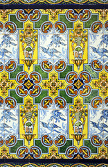 Azulejo decorativo, fondo, color
