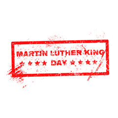 Martin Luther King Day grunge rubber stamp on white, vector illu