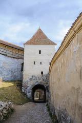 Rasnov fortress ruins in Romania, december 2014
