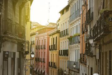 """Madrid, colorful old neighborhood of """"Lavapies"""", Spain"""