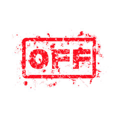 OFF Rubber Stamp isolated on white background