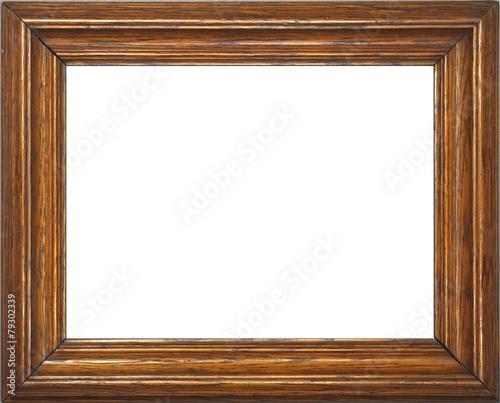Leinwandbild Motiv Fotorahmen Holz