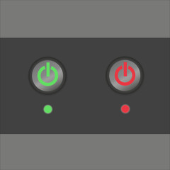 enable disable button, vector illustration