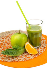 Green smoothie with Apple and citrus