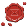 Red wax seal with mail icon