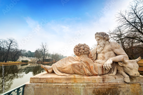 Allegory of the Bug River statue in Lazienki Park, Warsaw