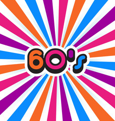 60's Party Background.