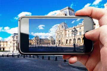 Smart phone mobile photo in Paris