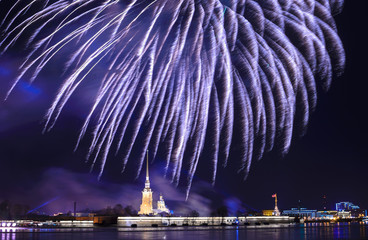 Firework in St.Petersburg