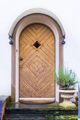 Front Door.  Wood door