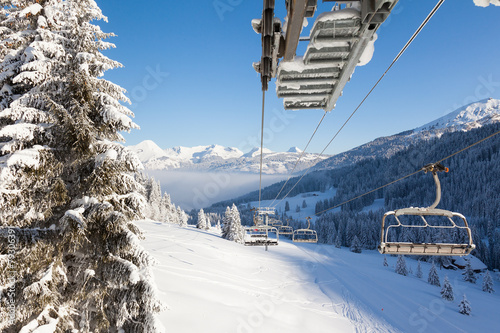 Staande foto Alpen View from Chair Lift
