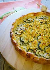 homemade zucchini and corn quiche