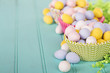 Easter Candy in colorful cupcake wrappers - 79307315