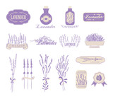 Fototapety Vintage lavender background, aromatherapy and spa packaging