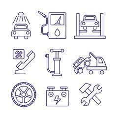 Car service  maintenance icon, Auto repair vector