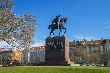 King Tomislav statue in Zagreb, Croatia