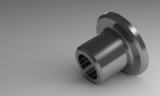 Steel flanged bushing
