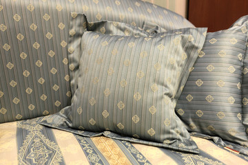 Cushion on a bed