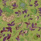Decorative floral boho seamless pattern poster