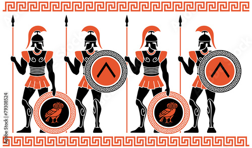 Ancient Greek Warriors - 79308524