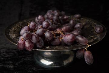Purple Grapes dark still life