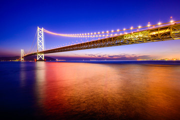 Akashi Okashi Bridge in Japan