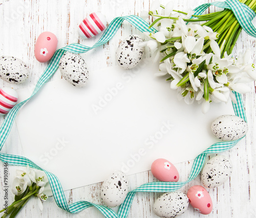 Fotobehang Bloemen Easter card