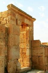 Ruins of Avdat - ancient town  in  Negev