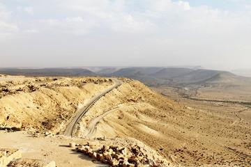 Negev Desert landscape view from city of Avdat, Israel.