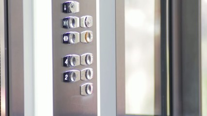 Button click in the lift