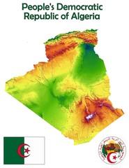 Algeria map flag coat