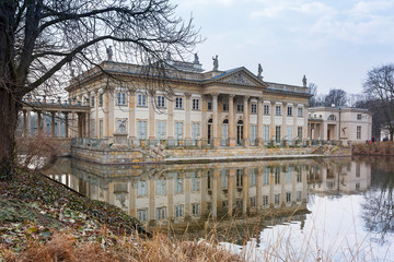 Palace on the Water in Royal Baths Park of Warsaw, Poland