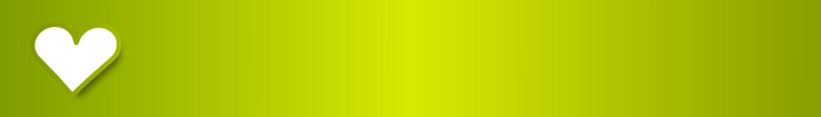 grün banner herz