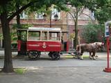 Vintage horse-drawn tram