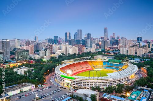 Foto op Plexiglas Japan Beijing, China Cityscape Overlooking Workers Stadium