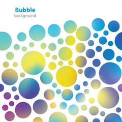 Abstract bubble pattern - business card - blank background