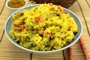 riz au curry et lait de coco