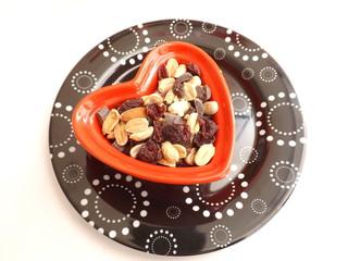 studentenfutter mit Schokolade