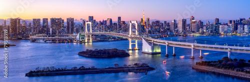 Fotobehang Aziatische Plekken Tokyo Odaiba Rainbow bridge