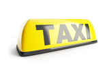 Fototapety Taxi sign 3d on white background