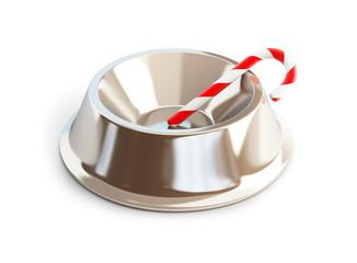 christmas candy dog dish