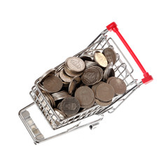 Kundvagn med mynt