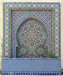 Leinwanddruck Bild - Morocco. Detail of oriental mosaic in Meknes