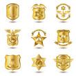 Police Badges Gold