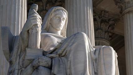 US Supreme Court Building Statue Contemplation of Justice
