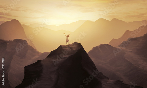 Leinwanddruck Bild Mountain praise