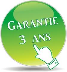 bouton garantie 3 ans
