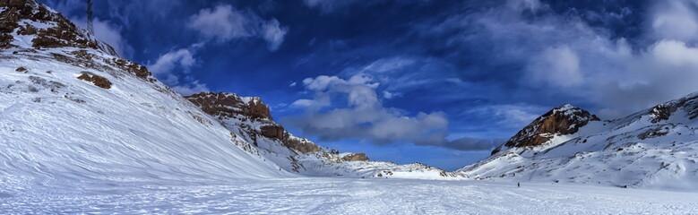 Valais Alps mountains upon Leukerbad, Switzerland