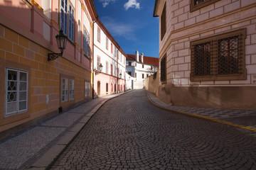 Historic architecture in Kanovnicka Street, Prague