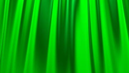 Silk satin elegant flowing background loop green
